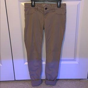 Hollister Khaki Pants Skinny